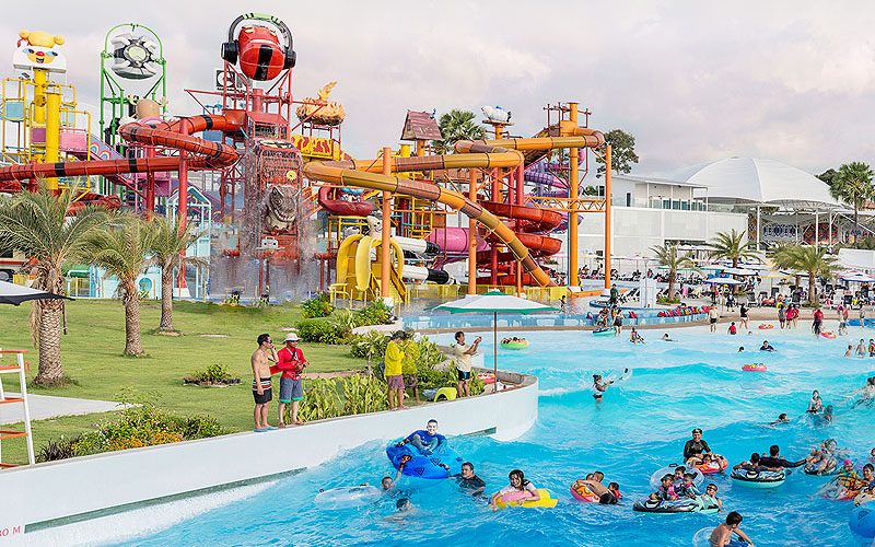 Cartoon Network Amazone Waterpark Trip In Thailand
